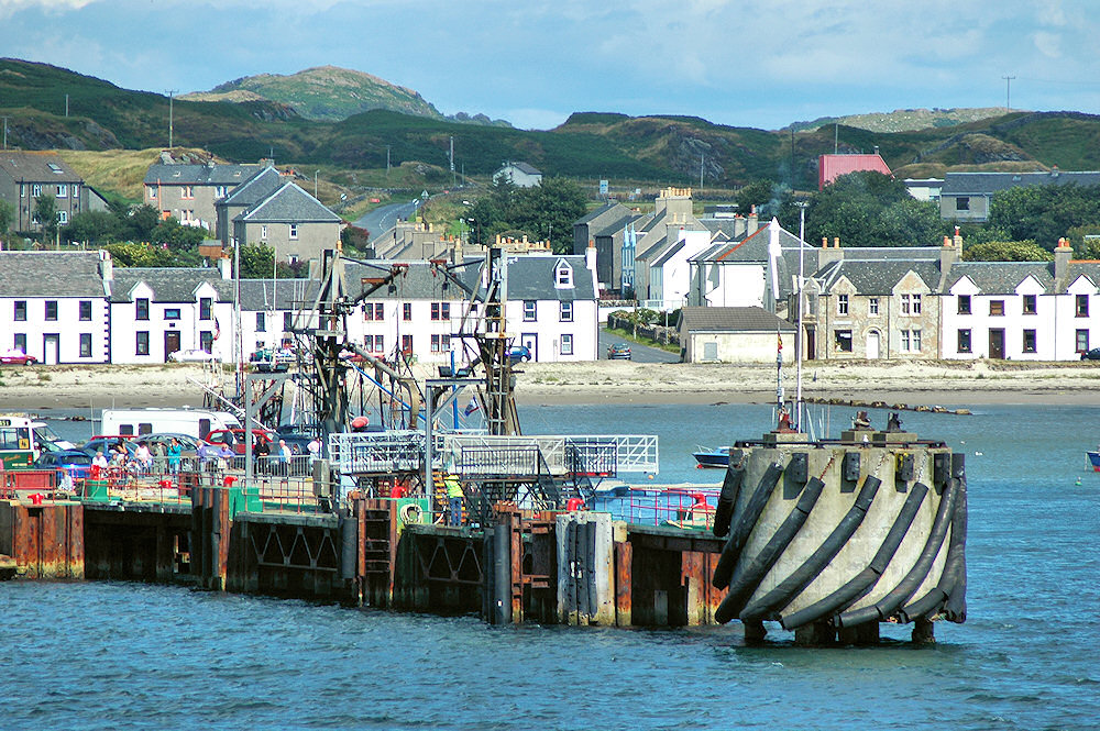 Picture of a pier in a small harbour
