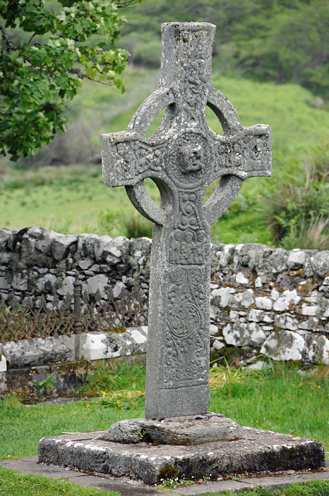 Picture of the Kildalton Cross, a Celtic cross on Islay
