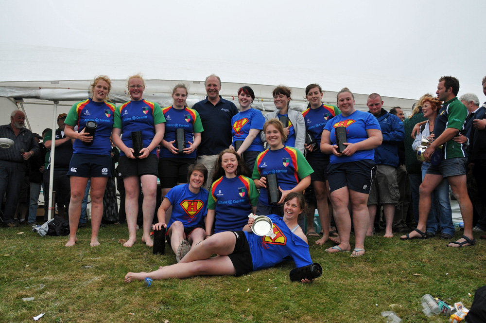 Picture of the Lassie Cup winners in the Islay beach rugby tournament in 2012