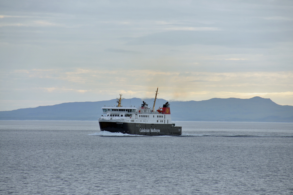 Picture of the Islay ferry MV Finlaggan on a crossing in June 2012