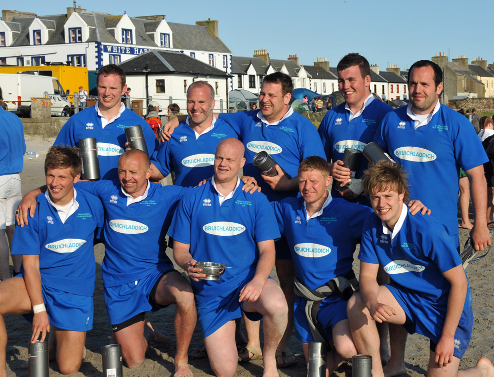 Picture of the winners of the Laddie Cup in the Islay beach rugby tournament 2011