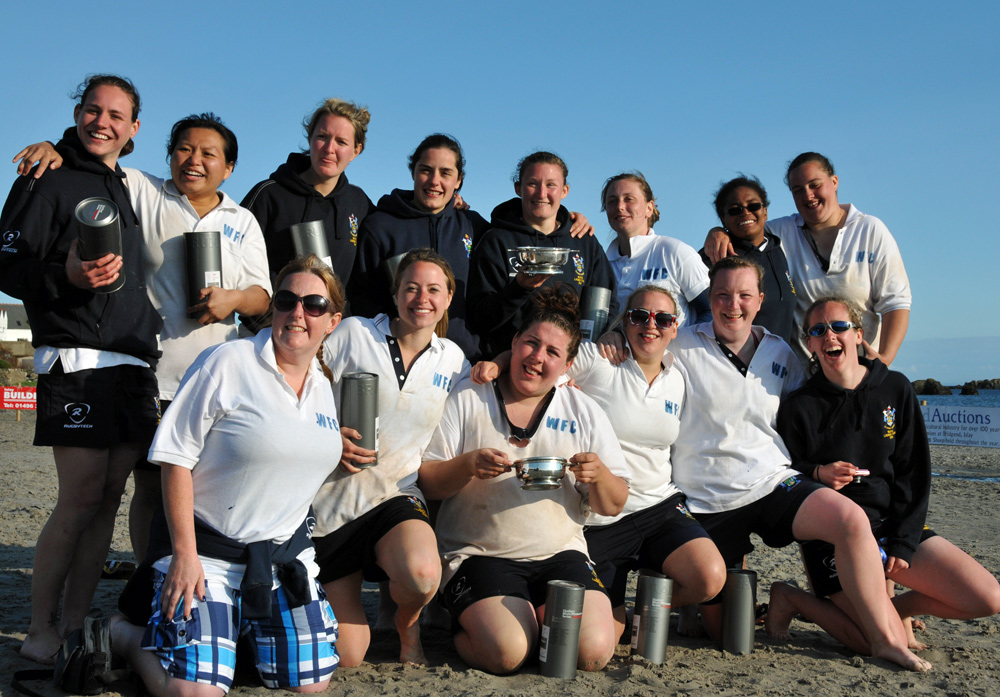 Picture of the winners of the Lassie Cup in the 2011 Islay Beach Rugby tournament