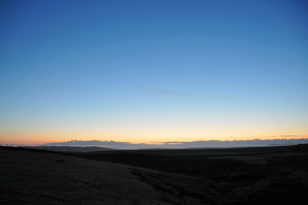 Picture of the morning dawn light over a wide landscape