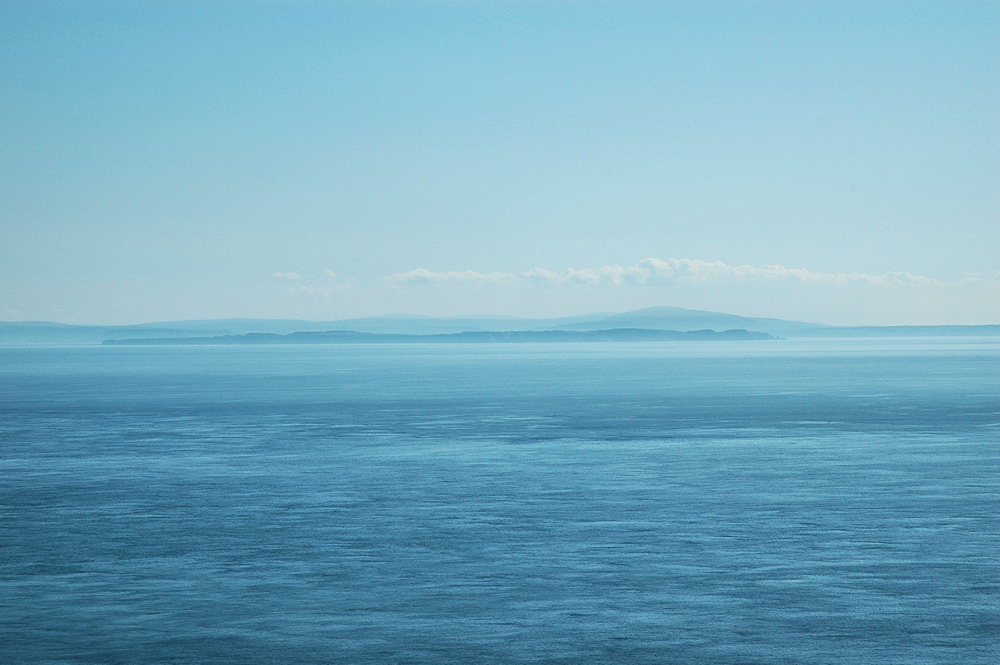 Picture of a view across a strait, Ireland visible on the other side
