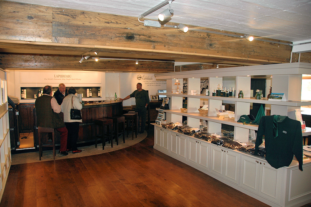 Picture of the inside of the Laphroaig distillery visitor centre
