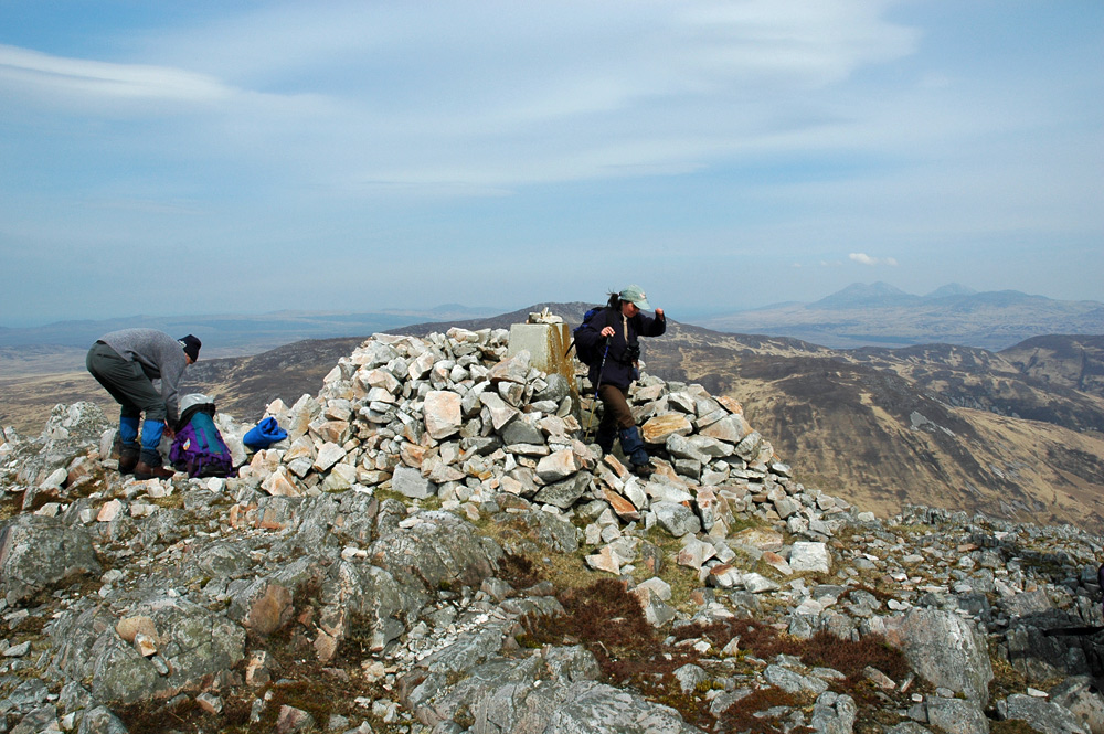 Picture of the summit cairn of a hill