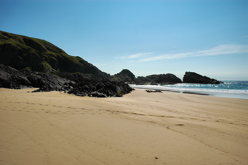 Picture of a a beach in bright sunshine