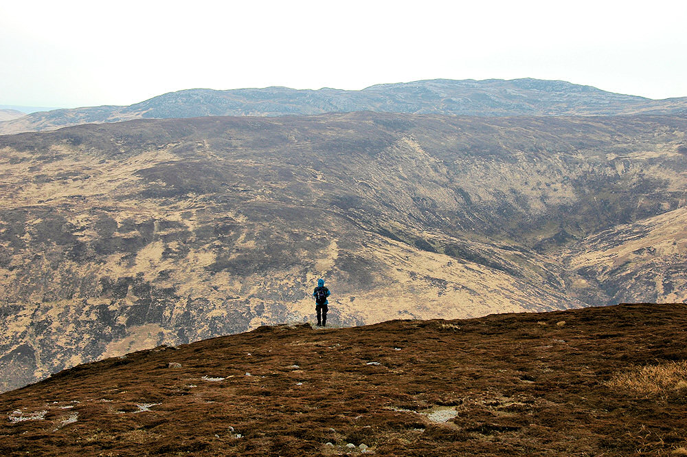 Picture of a walker above a glen