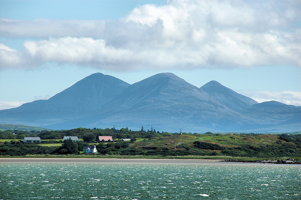 Picture of the Paps of Jura on a bright day