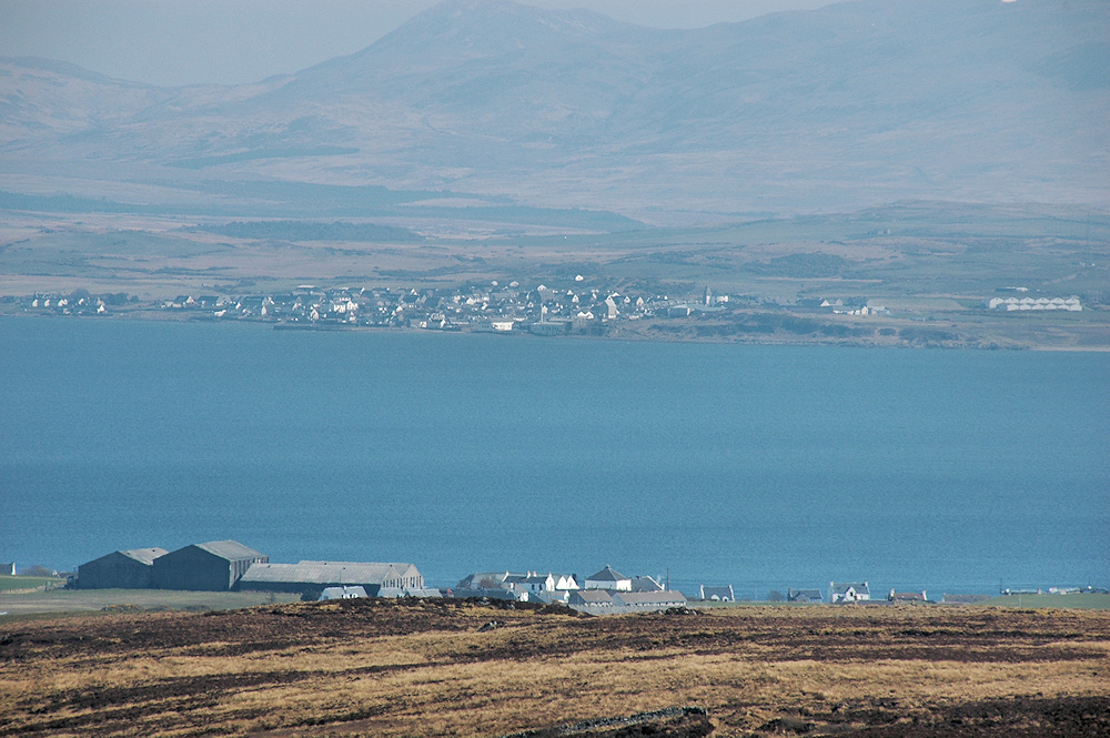 Picture of two coastal villages on two sides of a sea loch