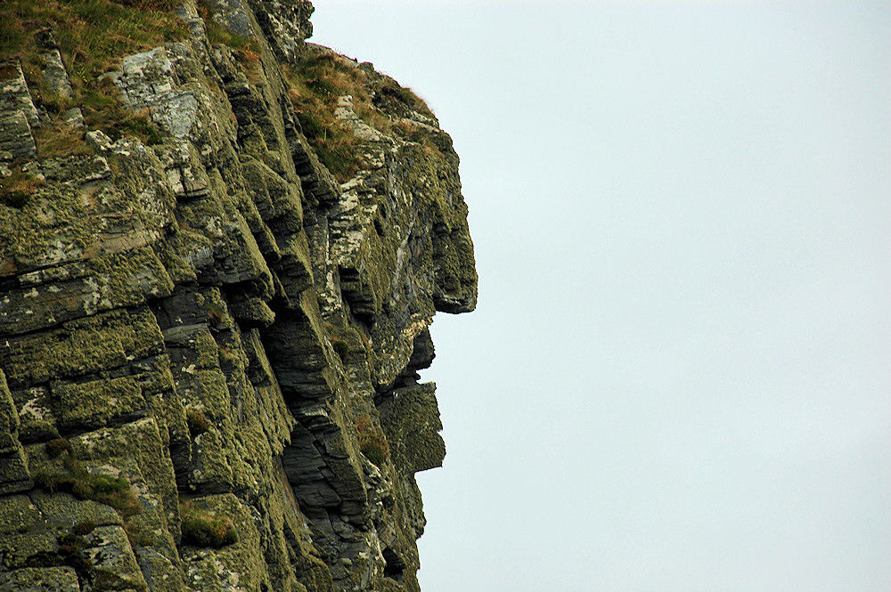 Picture of a rock formation that looks like the face of an old woman