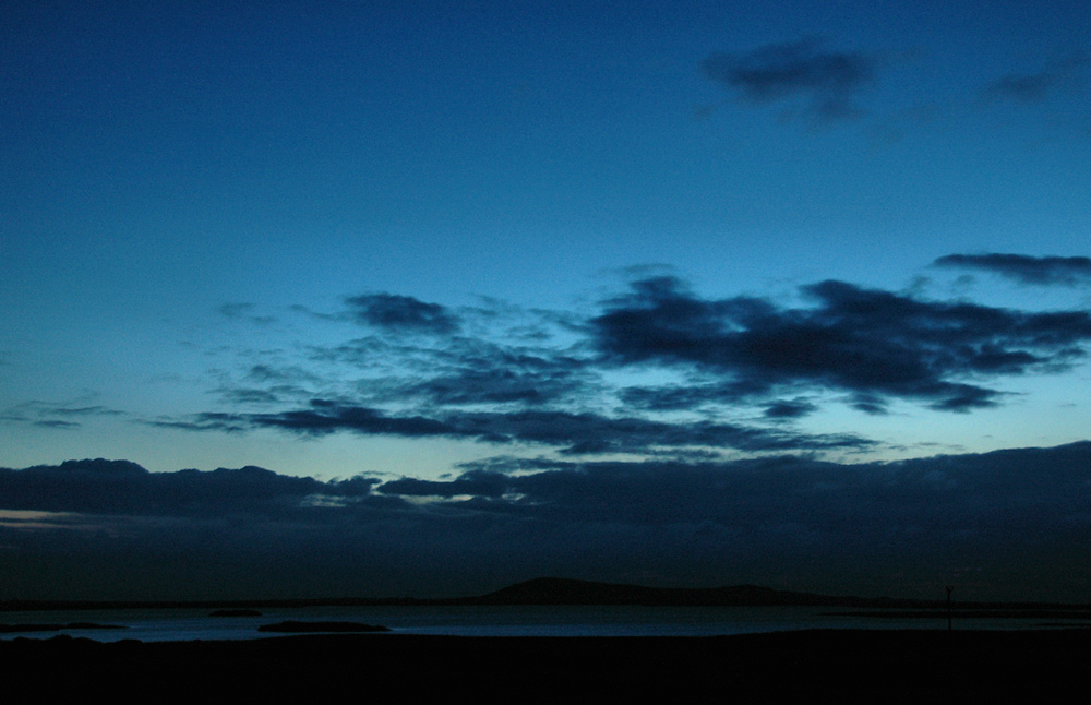 Picture of an evening overlooking a loch at last light