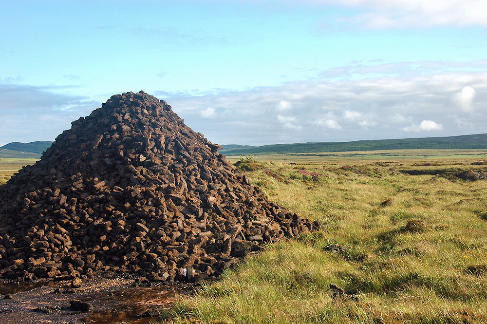Picture of a large peat stack in a moorland