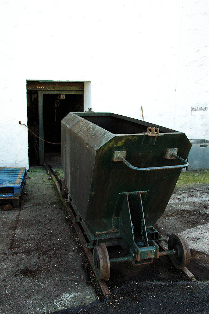 Picture of a short railway to transport peat into a distillery