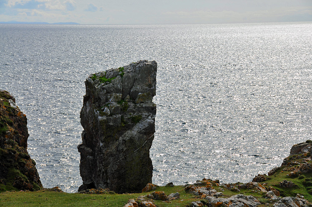 Picture of a view of an approach to a sea stack during a coastal walk