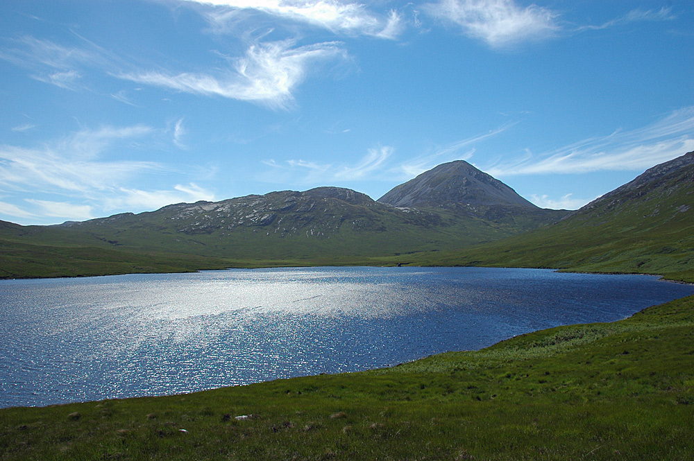 Picture of a view across a loch to a mountain