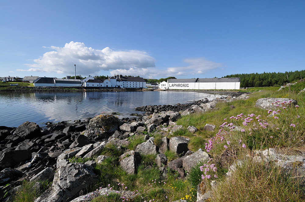 Picture of a coastal distillery on sunny calm summer day