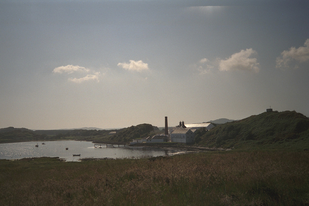 Picture of a distillery at a bay
