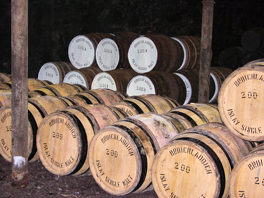 Picture of some casks in a warehouse