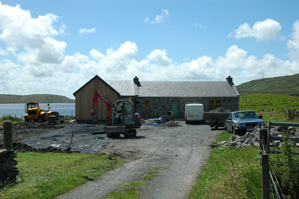 Picture of an under construction visitors centre