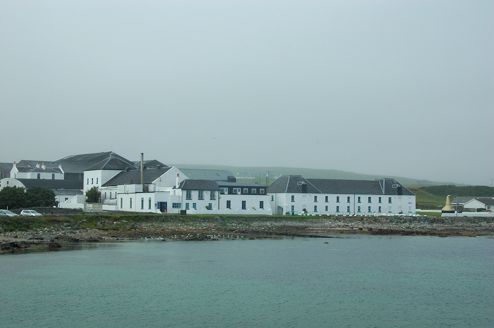 Picture of a coastal distillery on a hazy day