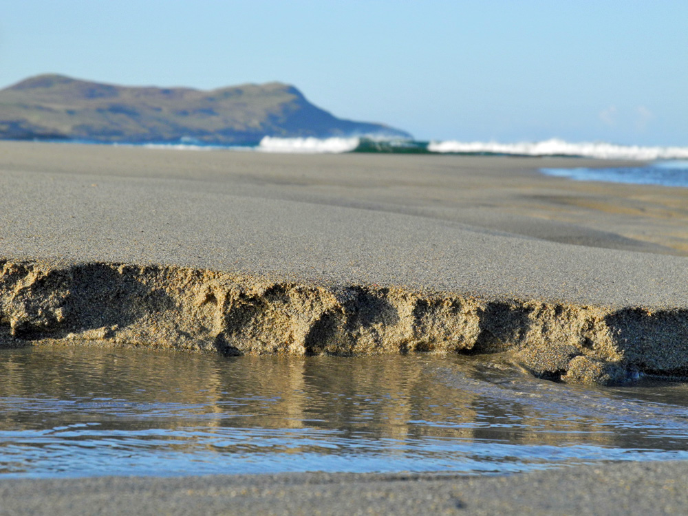 Picture of a sand edge on a beach