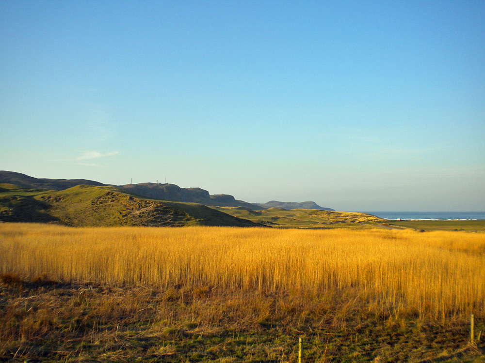 Picture of a coastal landscape in the morning light