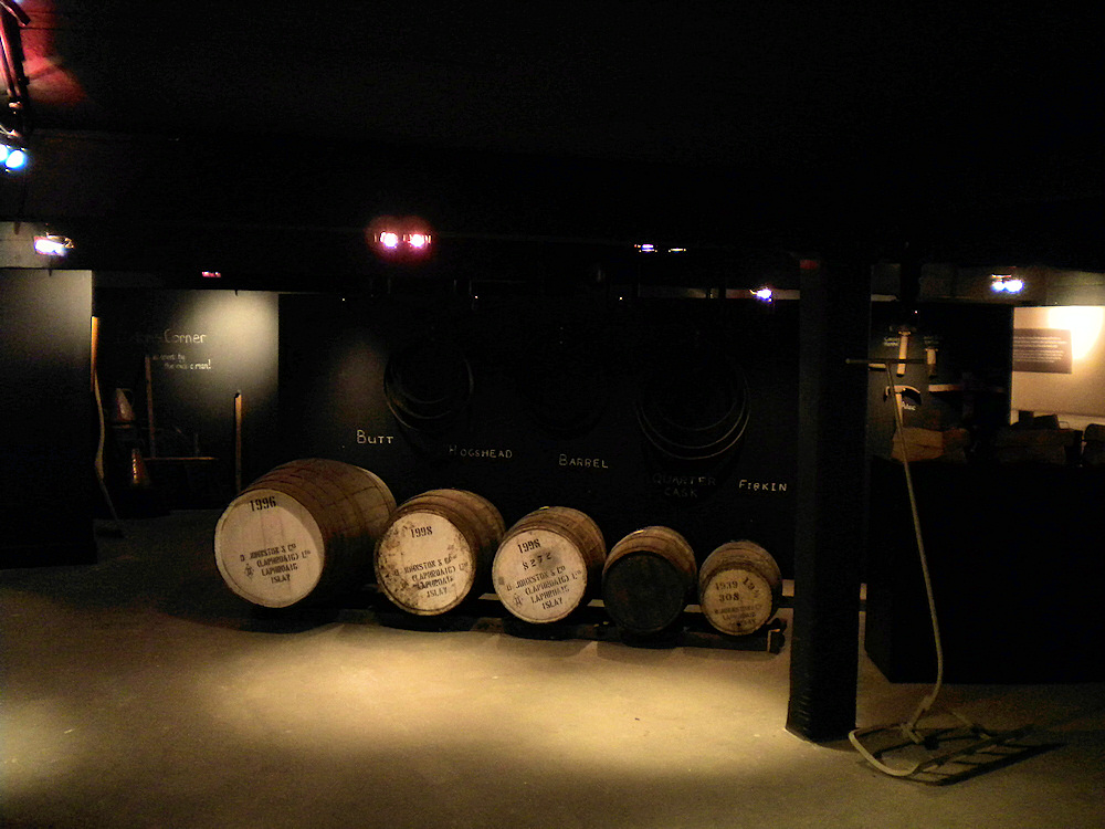 Picture of a view into a distillery museum