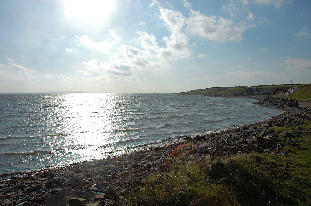 Picture of a view over a sea loch on a sunny day