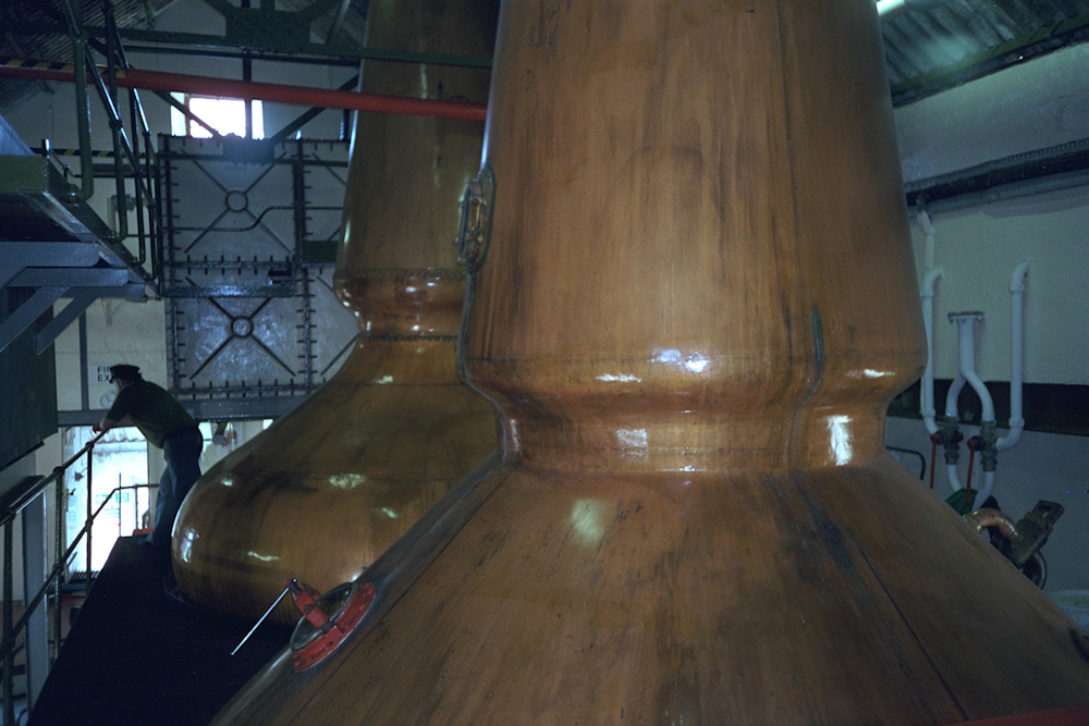 Picture of whisky still in a distillery