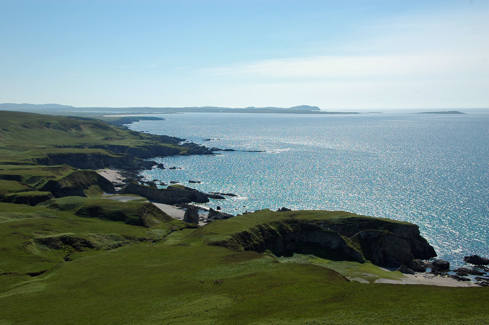 Picture of a remote coastline with cliffs and beaches