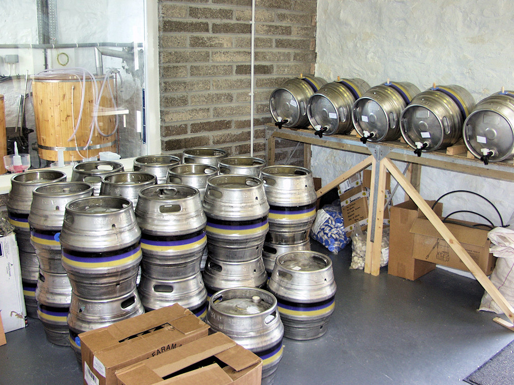 Picture of production facilities in a microbrewery