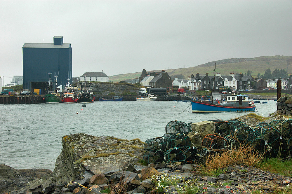 Picture of a small harbour with fishing boats