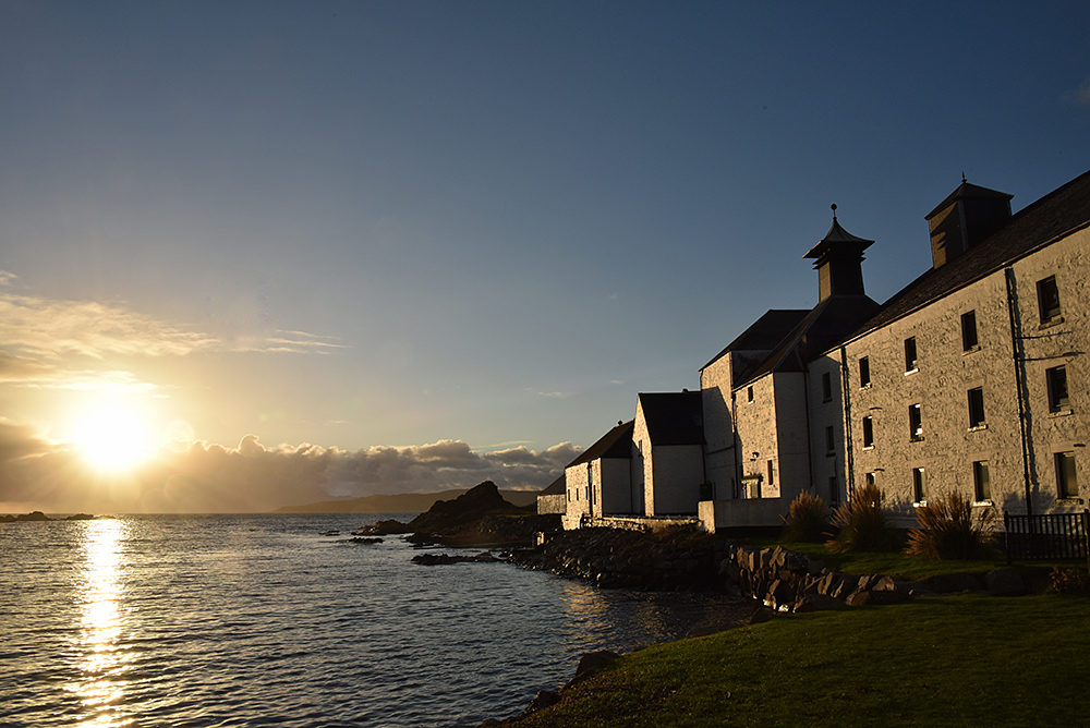 Picture of a coastal distillery in beautiful afternoon light