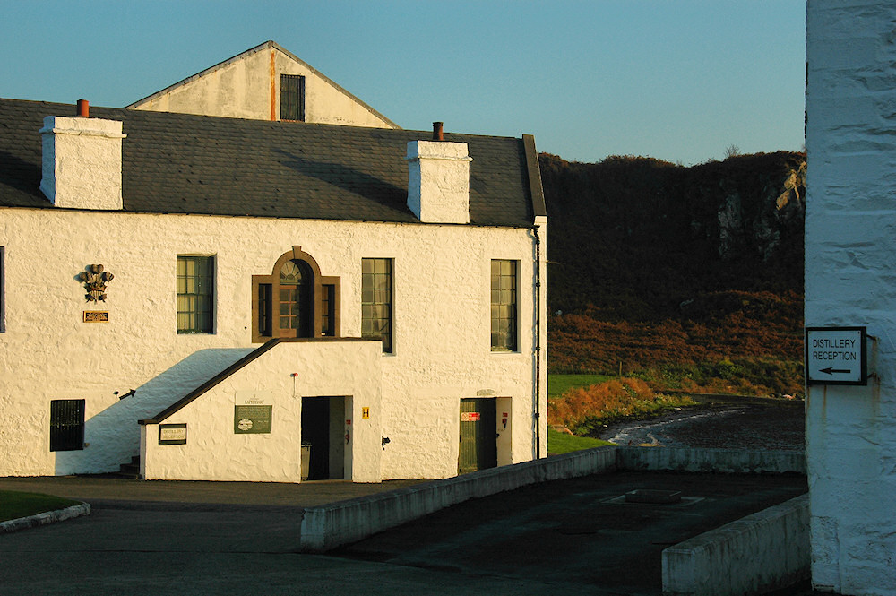 Picture of the reception at Laphroaig distillery on Islay