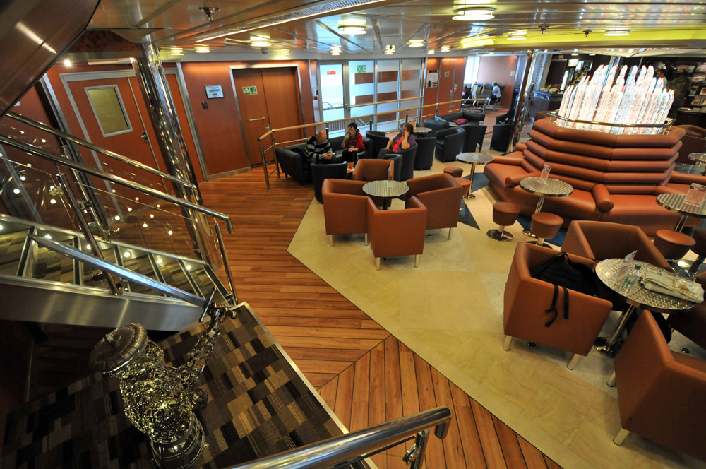 Picture of a view into the lounge of a ferry