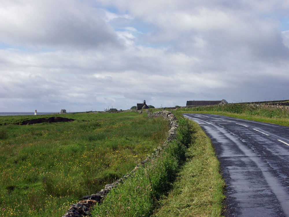 Picture of a coastal road between two villages