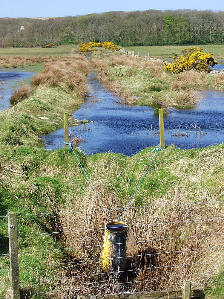 Picture of a simple but effective water management method at a nature reserve