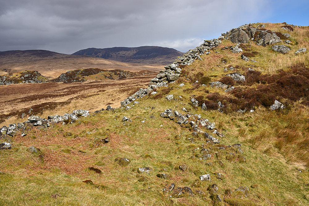 Picture of the ruins of an ancient hillfort