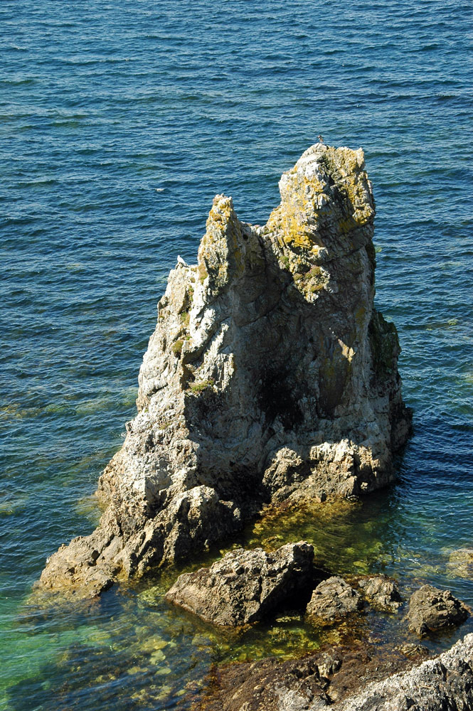 Picture of a rock pinnacle on a shore