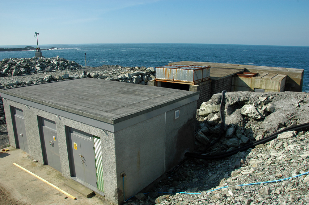 Picture of a wave power station