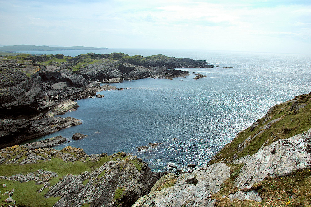 Picture of a rocky coastline with low cliffs