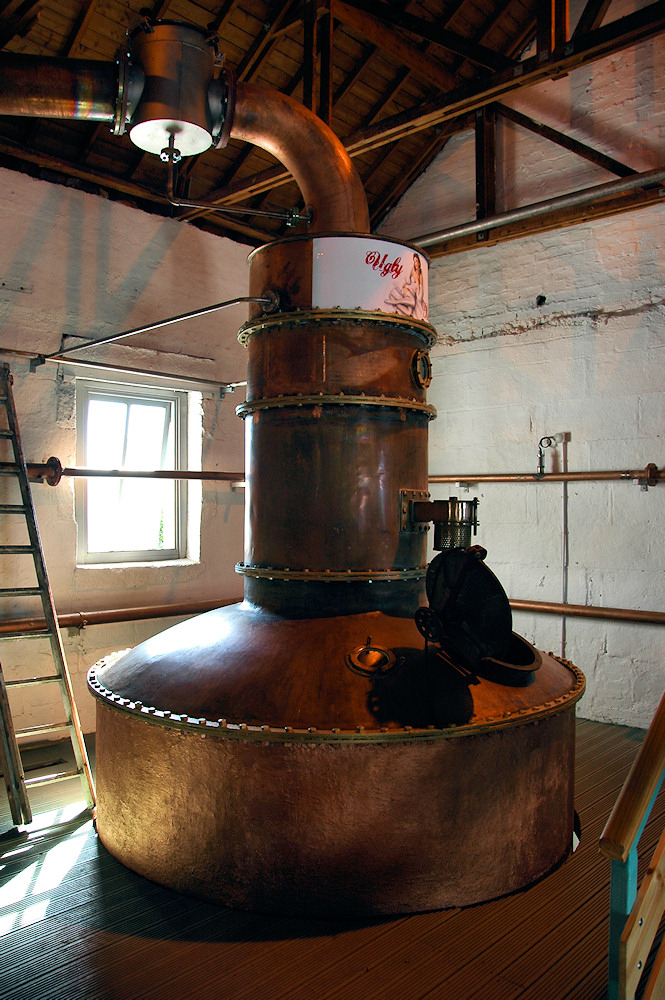 Picture of a special still at Bruichladdich distillery
