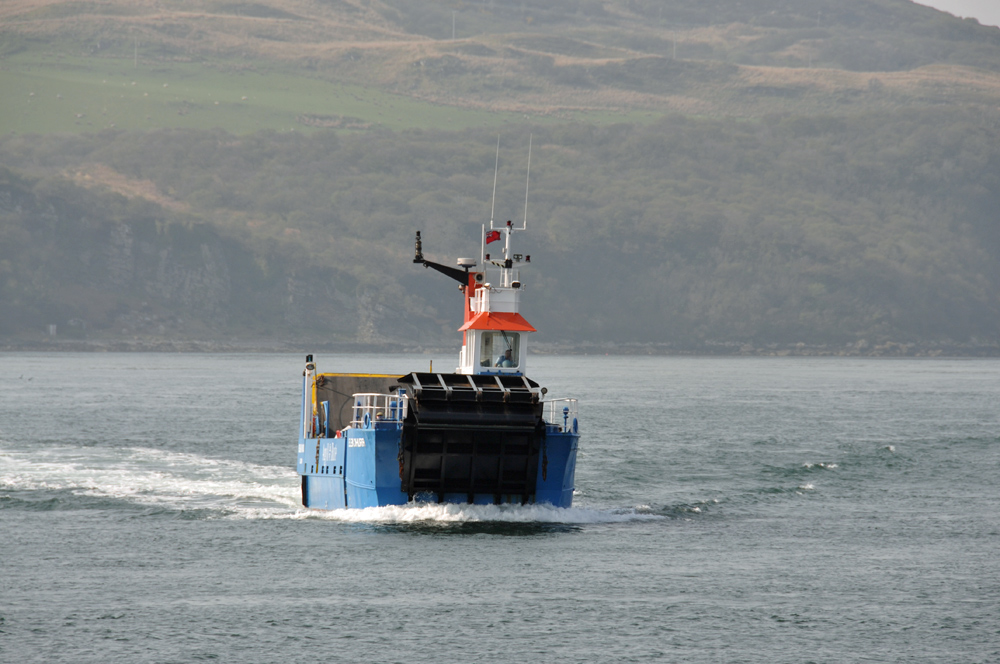 Jura ferry in the Sound of Islay