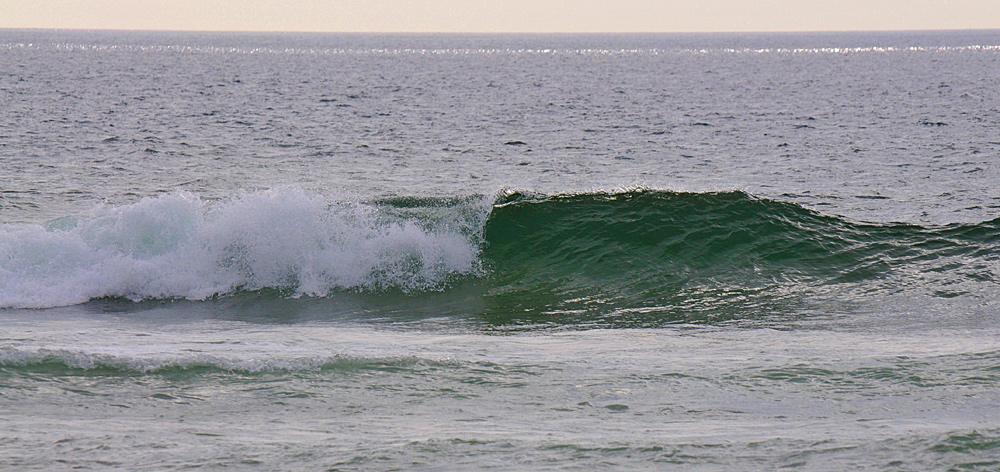 A breaking wave in Saligo Bay, Isle of Islay