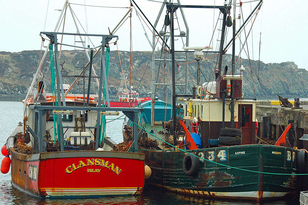 Clansman and Aspire in Port Ellen, Isle of Islay