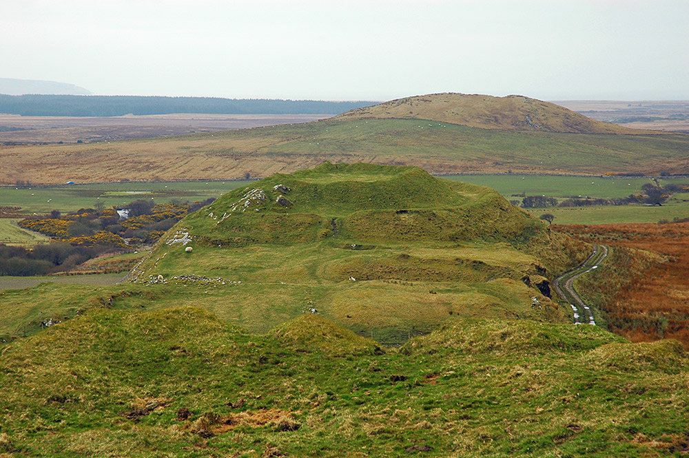 Picture of a view over an iron age fort