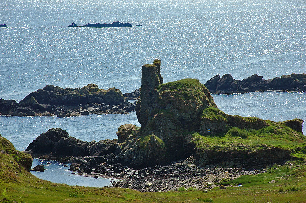 Picture of the ruin of a Castle on a shore
