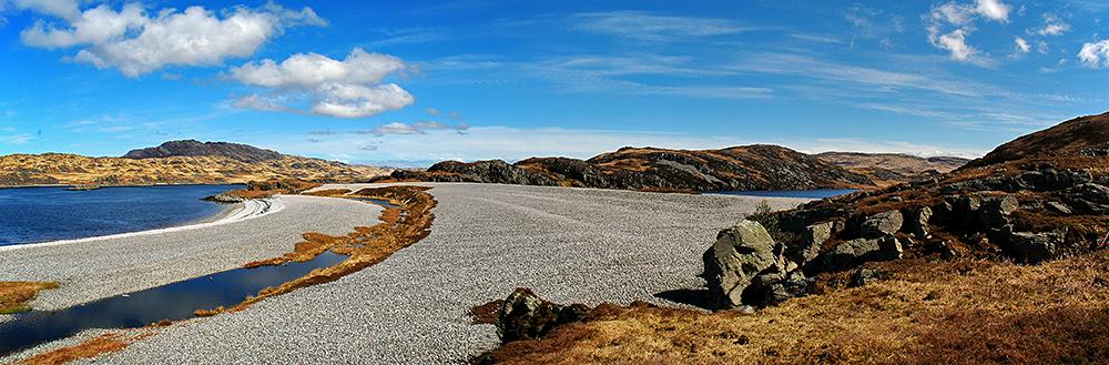 Raised beaches at Loch Tarbert, Isle of Jura