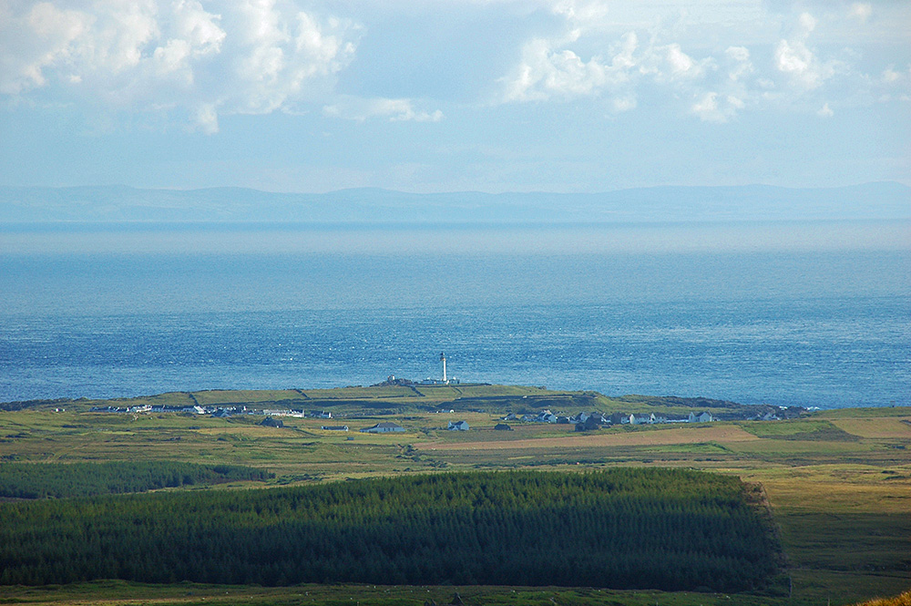 Rhinns of Islay lighthouse from Beinn Tart a'Mhill